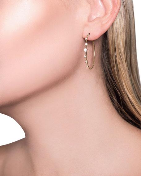 14k Solo Diamond Hoop Earrings
