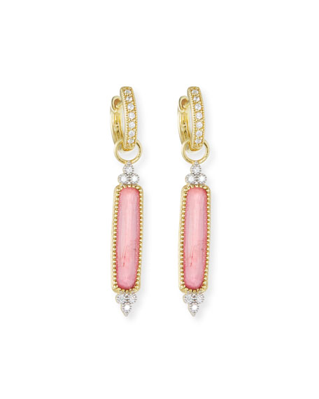 18k Moroccan Elongated Triplet Earring Charms