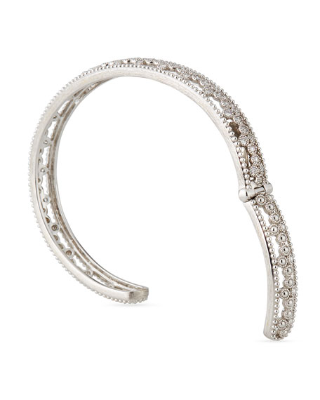 18k Provence Open Diamond Quad Cuff