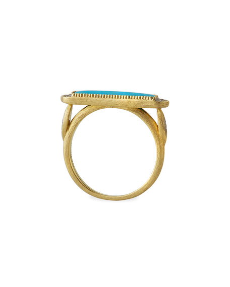 Jude Frances 18k Moroccan Marrakesh Turquoise Ring, Size 6.5