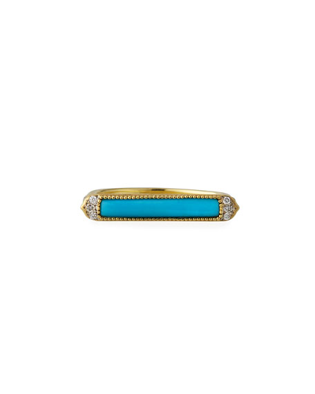 Jude Frances 18k Moroccan Marrakesh Turquoise Ring, Size