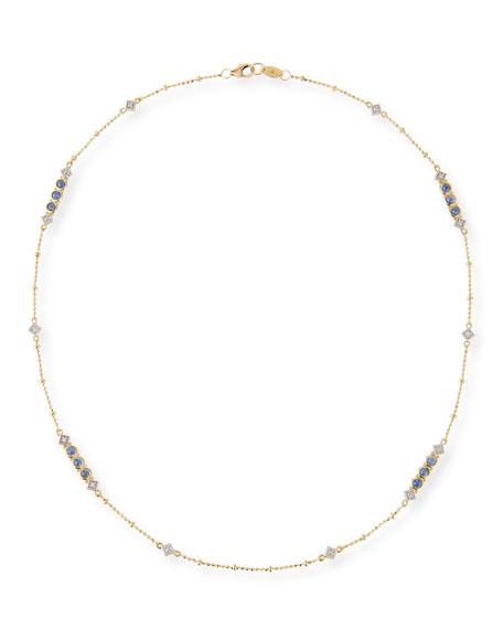 Lisse 18k Diamond & Sapphire Chain Necklace