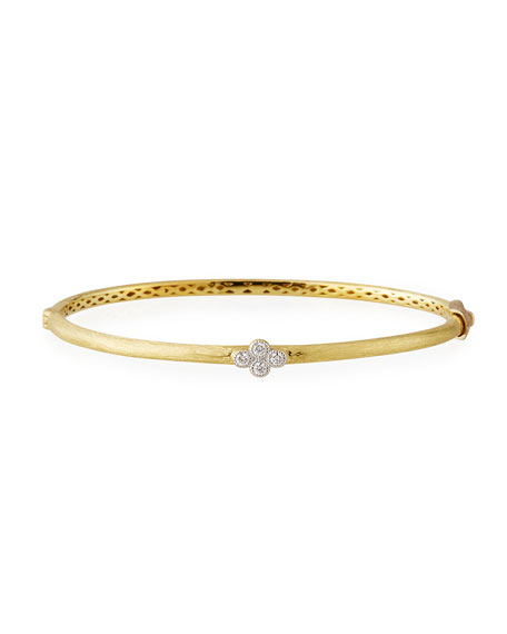 18k Gold Provence Diamond Quad Bangle