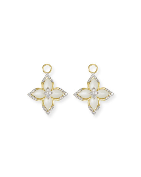 18k Moroccan Moonstone Earring Charms