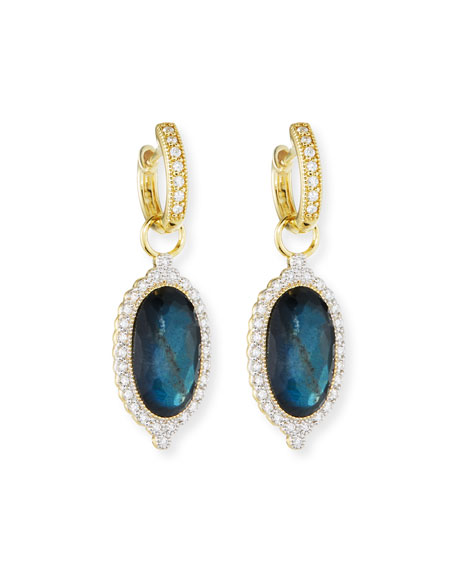 18k Provence Oval Doublet Earring Charms