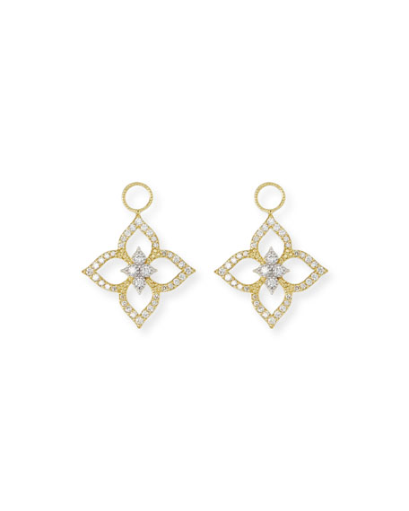 18k Moroccan Diamond Pavé Floral Earring Charms