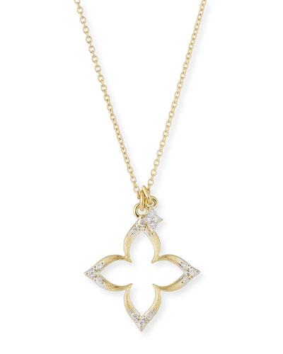 18k Moroccan Diamond Pavé Flower Necklace