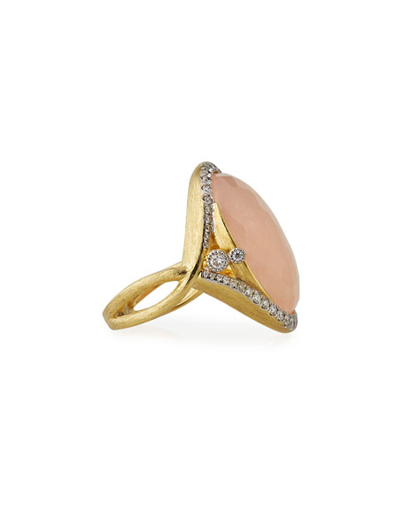 18k Provence Morganite Oval Ring