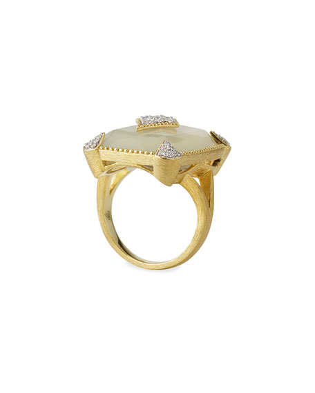 Lisse 18k Moonstone Kite Ring, Size 6.5