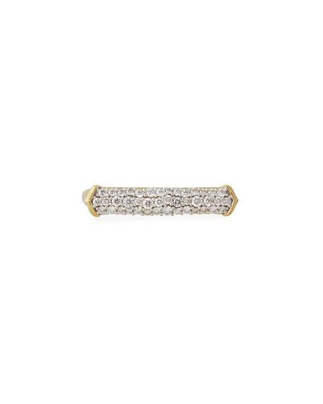 18k Moroccan Diamond Pavé Bar Ring