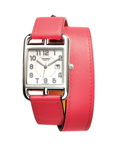 Cape Cod GM Stainless Steel Watch with Azalea Pink Leather Strap