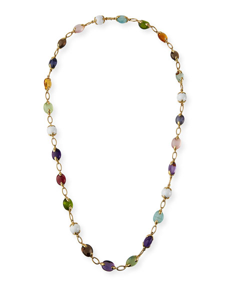 Verdura 18k Fulco Multicolor Stone Necklace