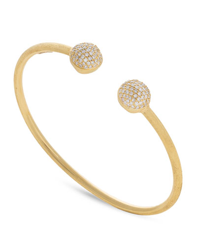 18k Africa Diamond Pavé Bangle Bracelet