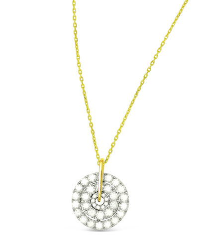 18k Firenze II Spinning Diamond Pendant Necklace