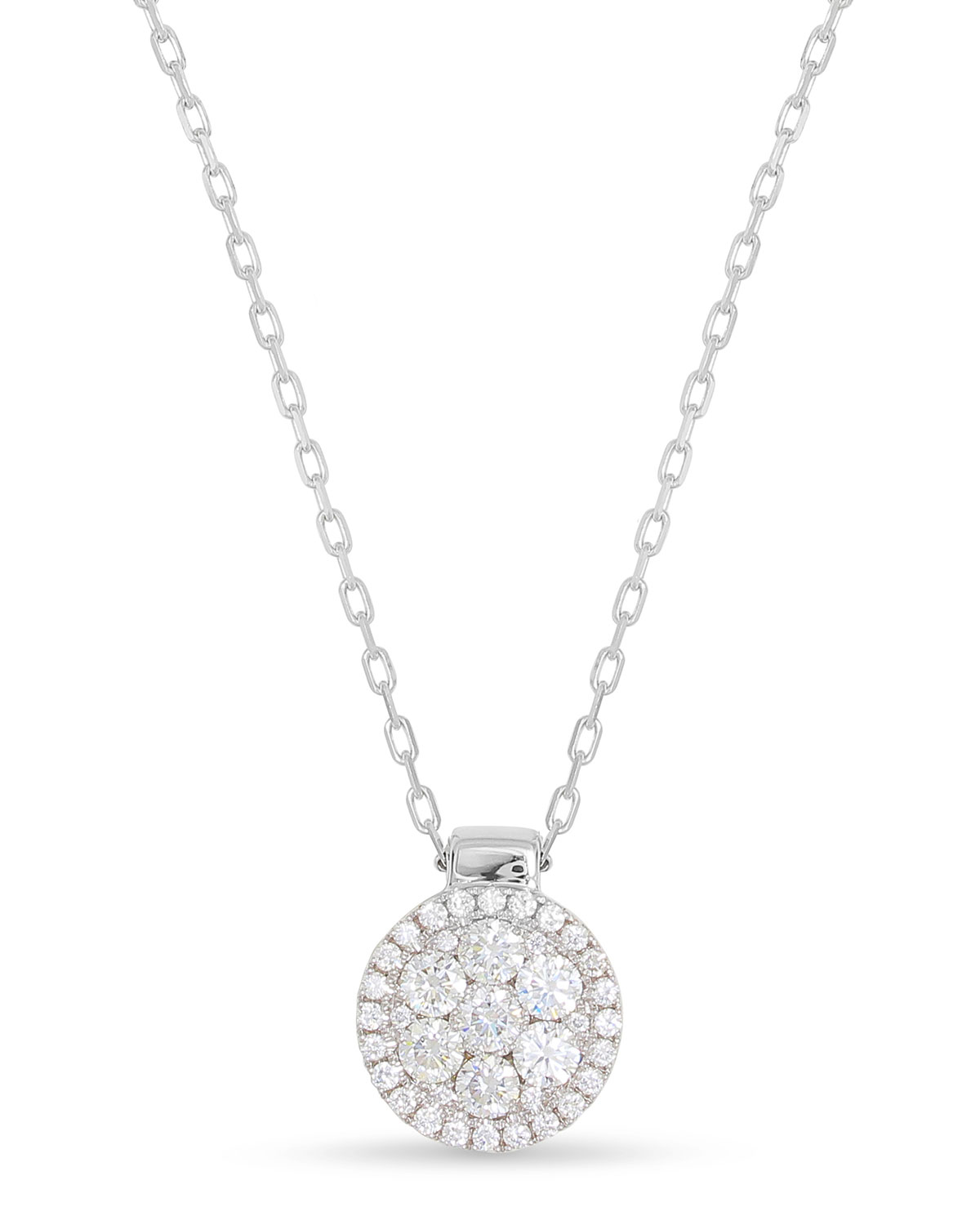 Frederic Sage 18k Firenze II Round Diamond Cluster Pendant Necklace wMvQ4Og