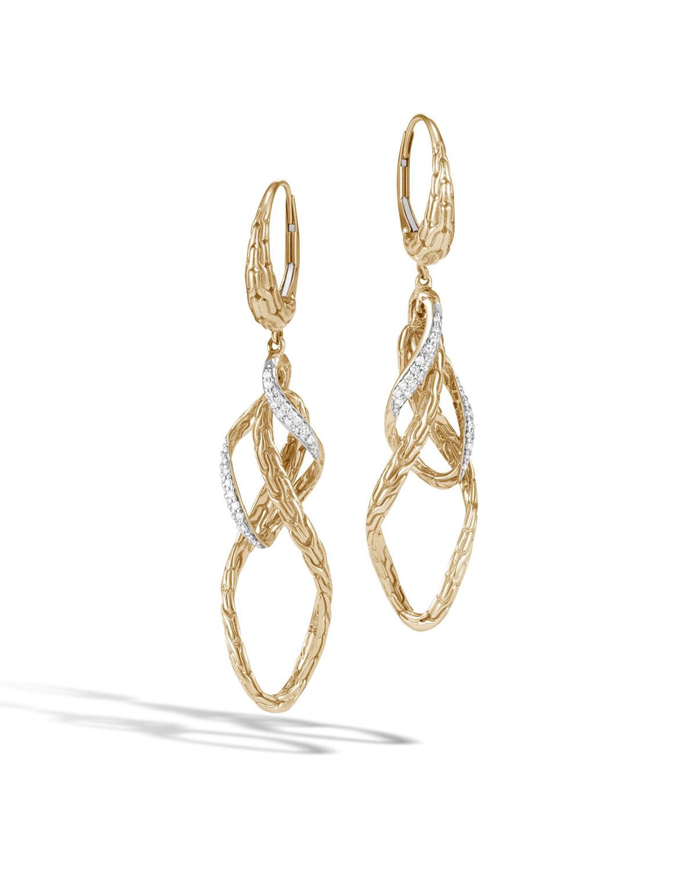 John Hardy Classic Chain 18K Interlocked Drop Earrings RW9ovkAgd