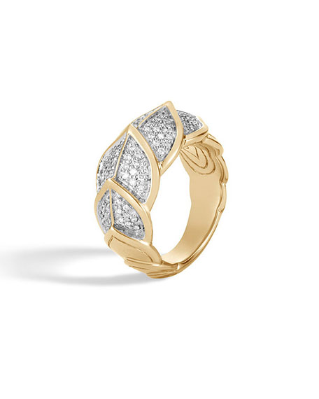 18k Legends Naga Diamond Ring, Size 6