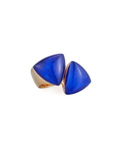 Freccia 18K Rose Gold & Lapis Ring  Size 6.5