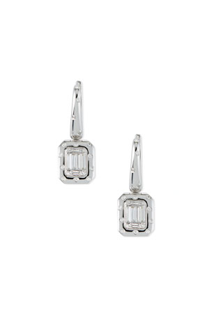 Andreoli 18k Baguette Diamond Drop Earrings
