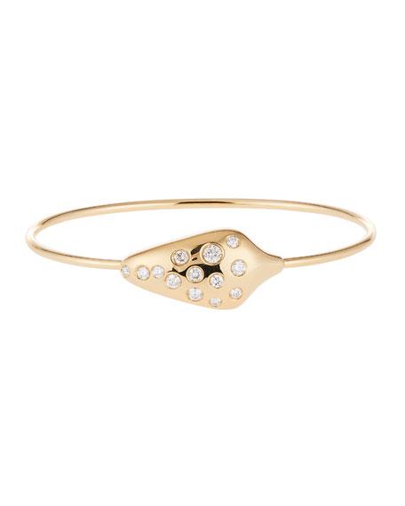 Diamond Serpent Head Bracelet in 18k Yellow Gold