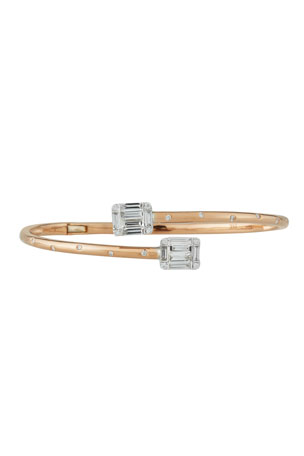 Andreoli Diamond Bypass Bracelet in 18k Rose Gold