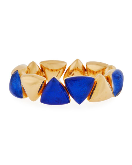 18k Freccia Lapis Rock Crystal Bracelet
