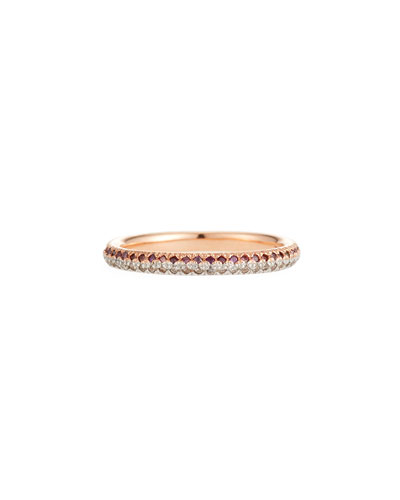 14k Split Two-Tone Diamond Ring, Size 7