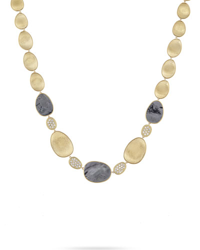 18k Lunaria Mother-of-Pearl & Diamond Necklace