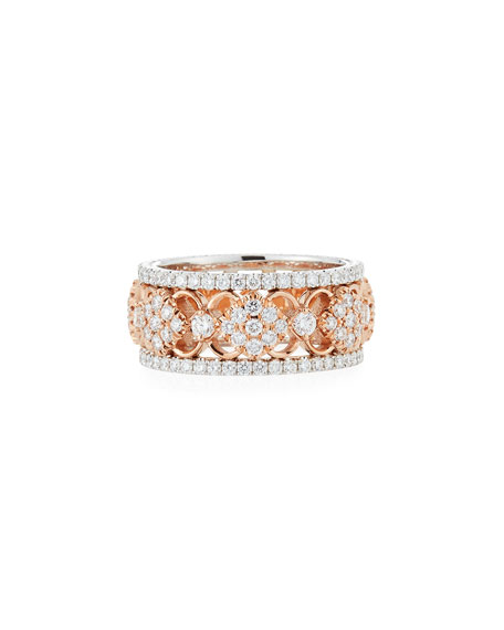 Narrow Filigree Diamond All-Around Band Ring, Size 6