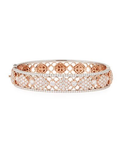 Filigree Diamond Bangle Bracelet