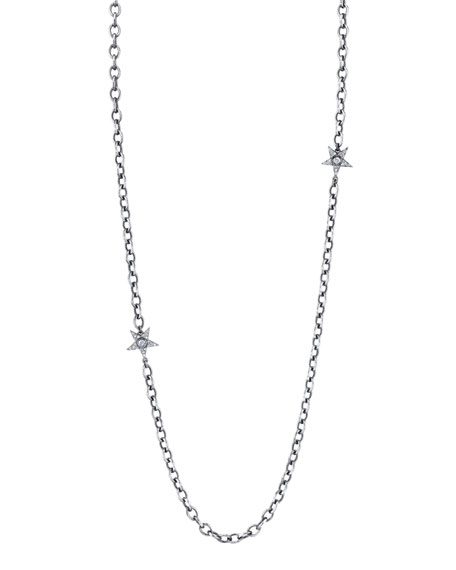 Diamond Multi-Star Necklace, 48""