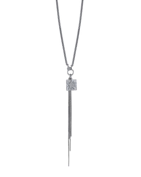 Diamond Starburst Fringe Necklace