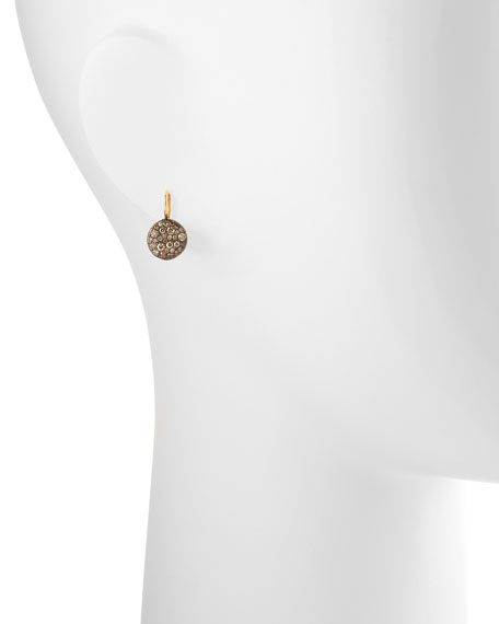Sabbia Brown Pave Diamond Earrings, 0.78 TCW