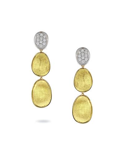 Lunaria Diamond Three-Drop Earrings
