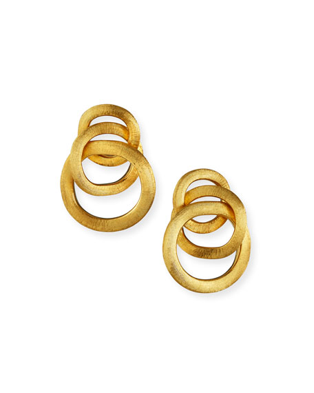 Jaipur Link Gold Large Twist Earrings
