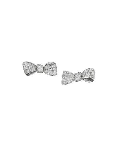 Mini Bow Diamond Stud Earrings