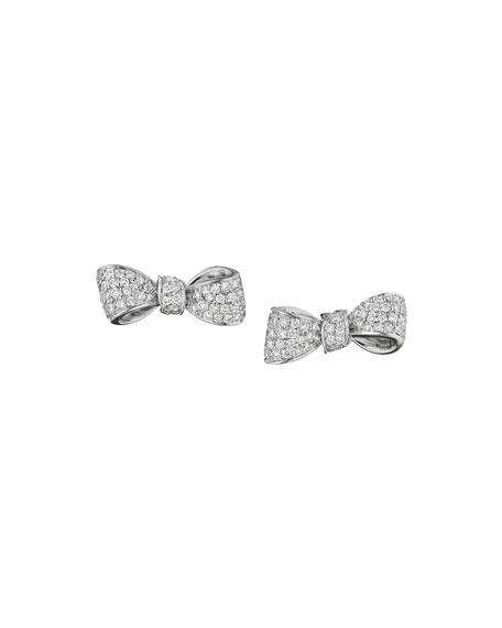 Mini Bow Diamond Stud Earrings