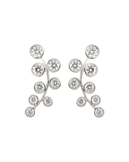 18k White Gold & Diamond Climber Earrings