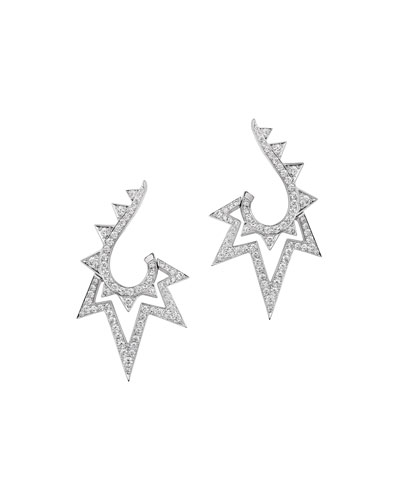 Lady Stardust 18K White Gold & Diamond Earrings