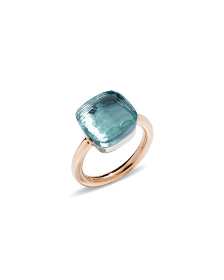 Pomellato NUDO FACETED BLUE TOPAZ RING
