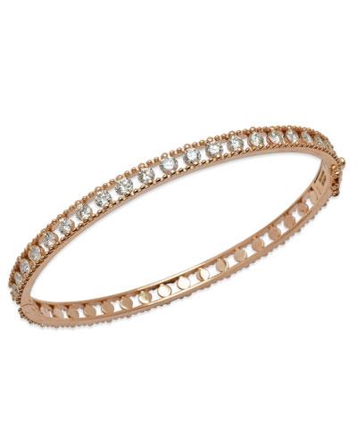 Allegra 18k Rose Gold Diamond Bangle Bracelet