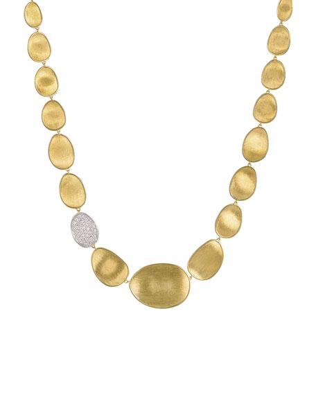 Marco Bicego Lunaria Diamond & 18k Gold Collar Necklace