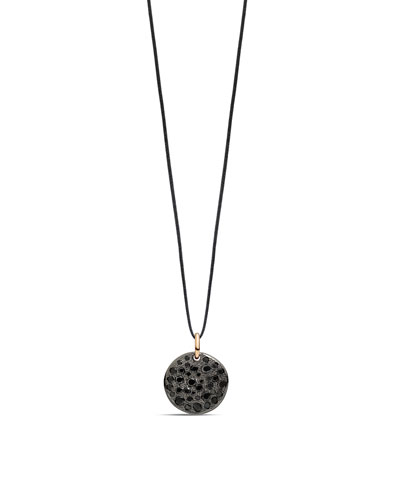 18k Sabbia Black Diamond Pendant