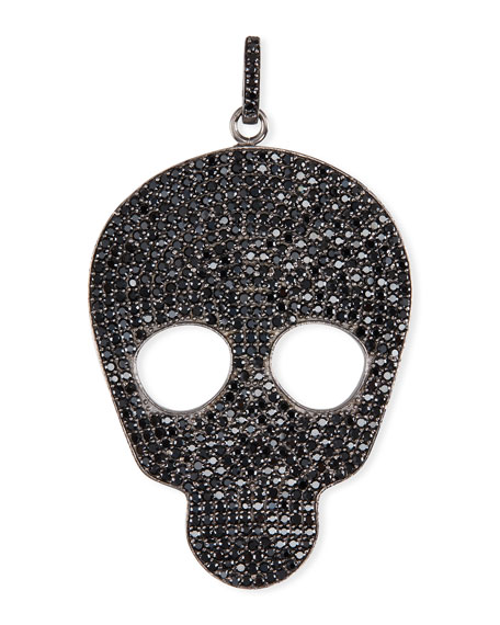 Margo Morrison Small Black Spinel Skull Charm M6TsNaNcIu