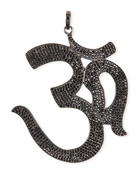 Black Spinel Pave Om Pendant