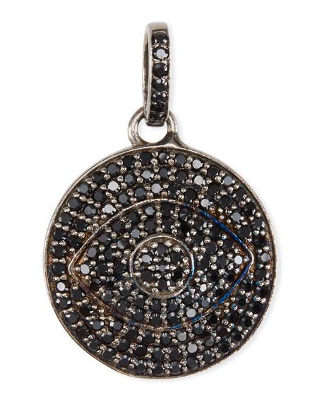 Black Spinel Evil Eye Charm/Pendant