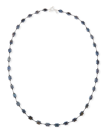 Labradorite Station Necklace