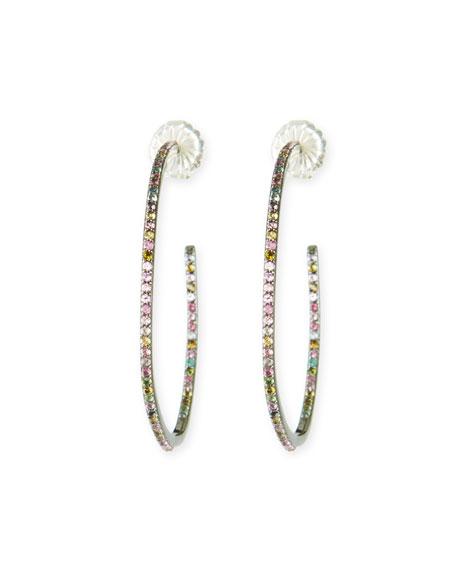 Medium Tourmaline Hoop Earrings