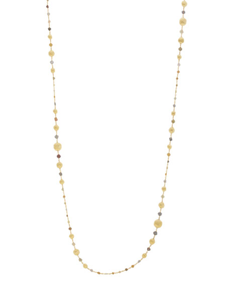 "Unico Africa Beaded Necklace with Rough Diamonds, 36"" (33.64ct)"