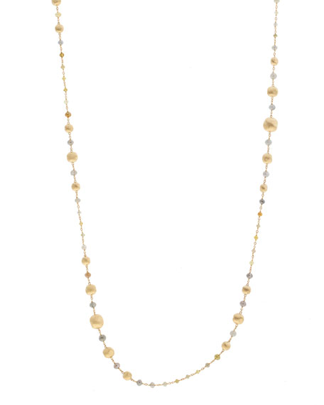 "Unico Africa Beaded Necklace with Rough Diamonds, 36"" (29.64ct)"